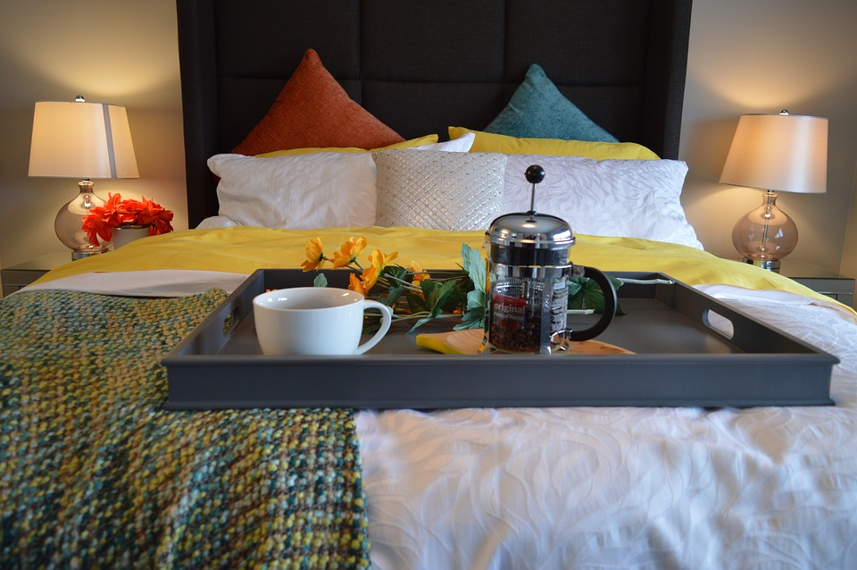 petit déj au lit