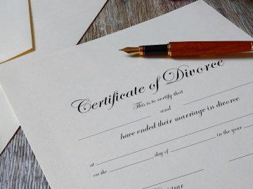 certificat de divorce