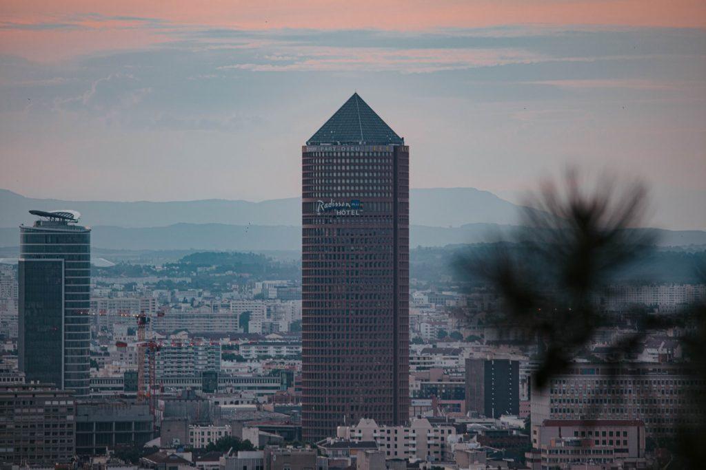 vue du ciel Lyon 3
