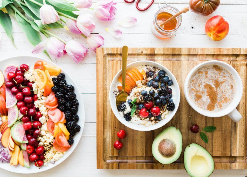 repas healthy fruit et légumes